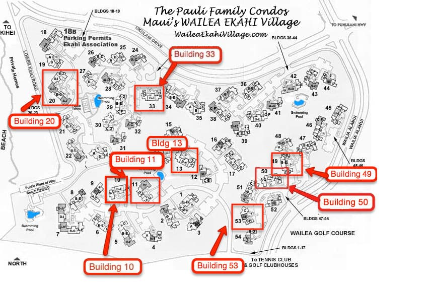 Ekahi Village Site Plan Map Waileaekahivillagecom