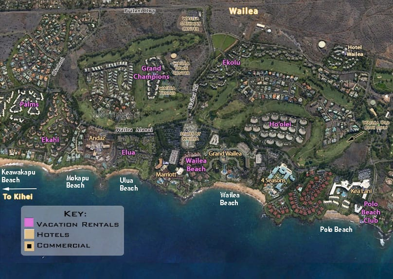 Maui Map Of Wailea