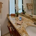 new bath with granite counter