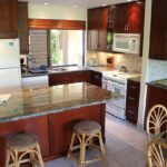 New kitchen with breakfast bar