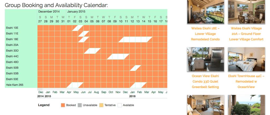 Wailea Ekahi Village Availability Calendar
