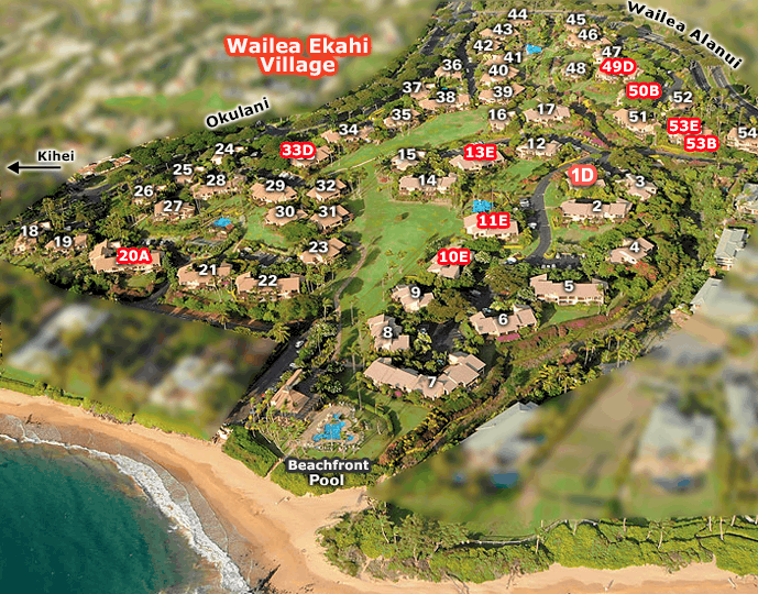 Map of Wailea Ekahi Village