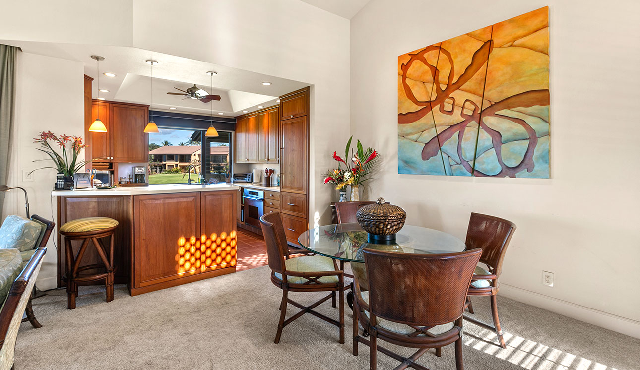 Kitchen & DIning area with custom art