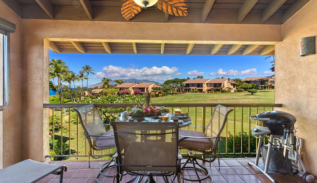 Privacy & sunset views year round from our lanai